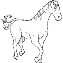 Strong Horse in Horses Coloring Page