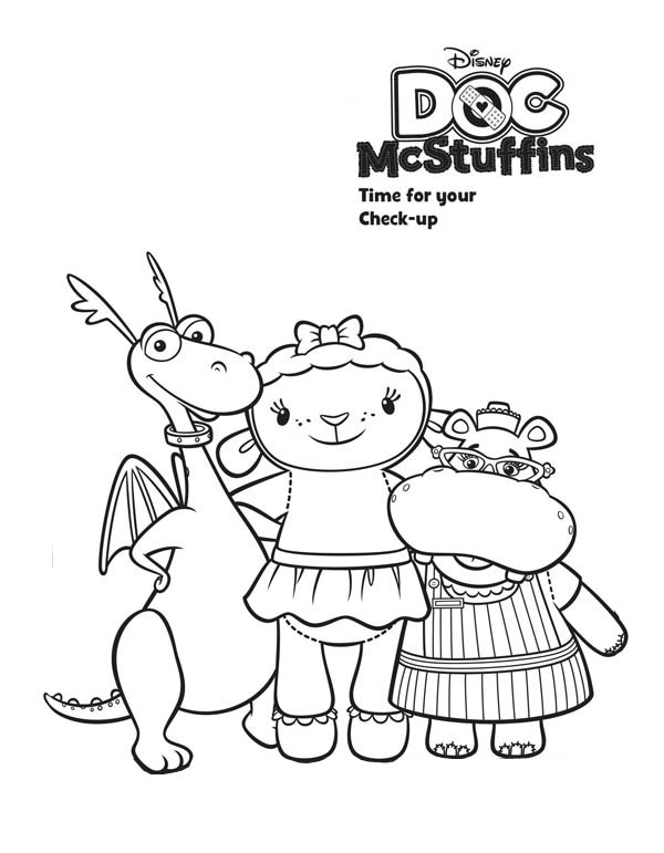 Stuffy And Lambie And Hallie Hugging In Doc Mcstuffins