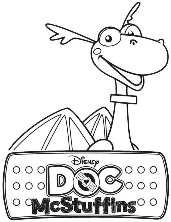Stuffy the Dragon in Doc McStuffins Coloring Page