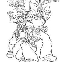 Super Hero Squad Assembled Coloring Page
