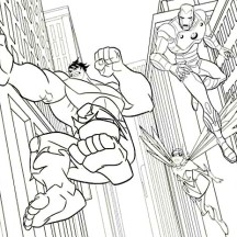 Super Hero Squad Defending the Universe Coloring Page