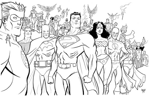 Super Hero Squad Poster Coloring Page
