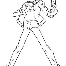 Tea Gardner from Yu Gi Oh Coloring Page