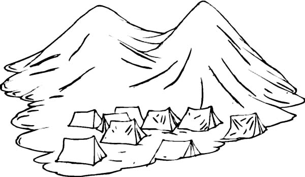 Tent Coloring Page - Ultra Coloring Pages | 348x600