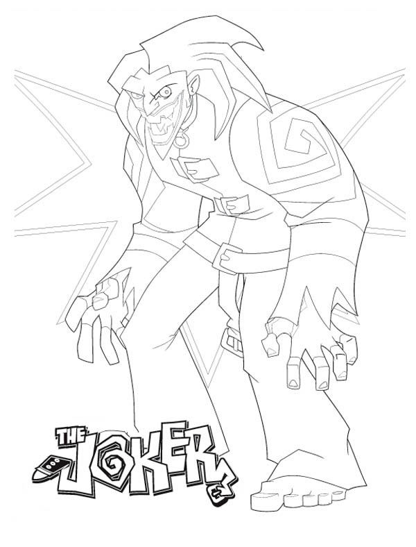 Terrifying Joker Coloring Page