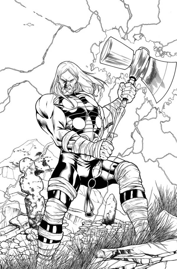 The Adventure ofThor Coloring Page