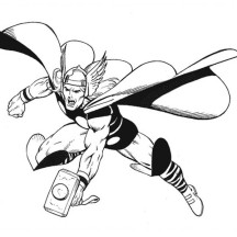 The Amazing Thor Coloring Page