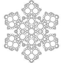 The Beauty of Snowflakes Coloring Page