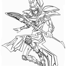 The Dark Magician from Yu Gi Oh Coloring Page