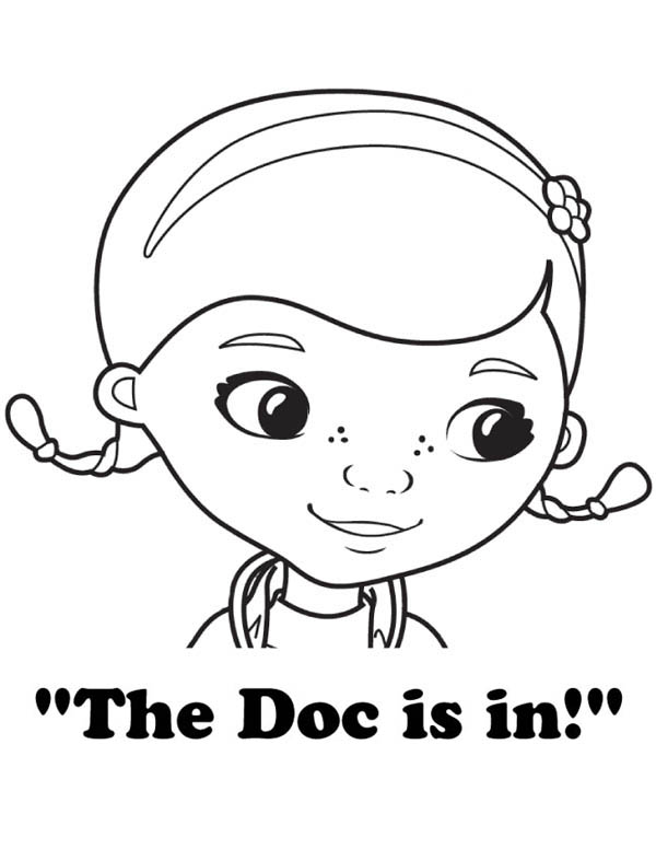 The Doc is in Doc McStuffins Coloring Page