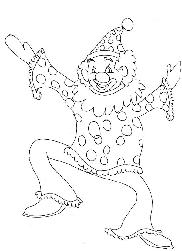 The Funny Man Joker Coloring Page