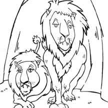 The Lions in Daniel in Daniel and the Lions Den Story Coloring Page