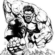 The Rage of Hulk Coloring Page