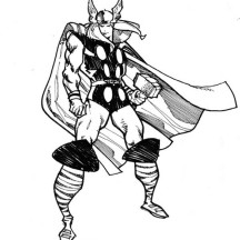 Thor Defending the Earth Coloring Page