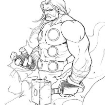 Thor Had Enough Patience Coloring Page