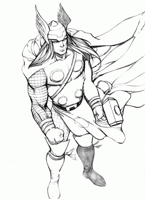 Thor Image Coloring Page