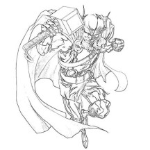 Thor Super Power Coloring Page