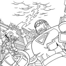 Thor Use Mjolnir in Super Hero Squad Coloring Page