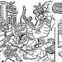 Thor vs Villain in Super Hero Squad Coloring Page