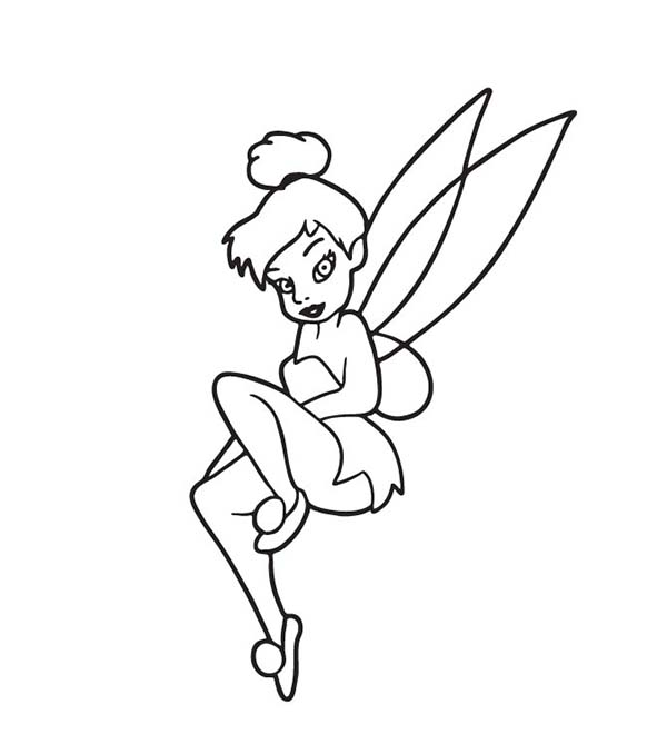 Tinkerbell Floating in the Air Coloring Page