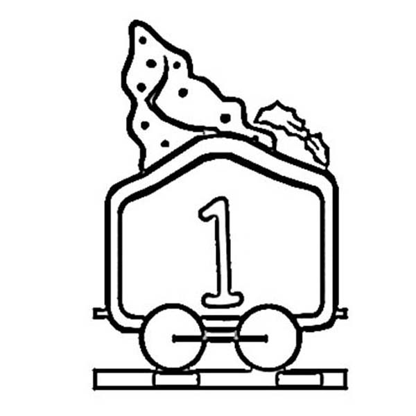 Train Number One Coloring Page