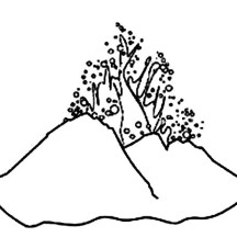 Volcano's Magma Coloring Page