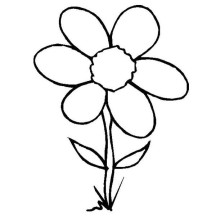 Wild Grass Flower Coloring Page