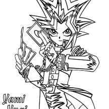 Yami Yugi from Yu Gi Oh Coloring Page