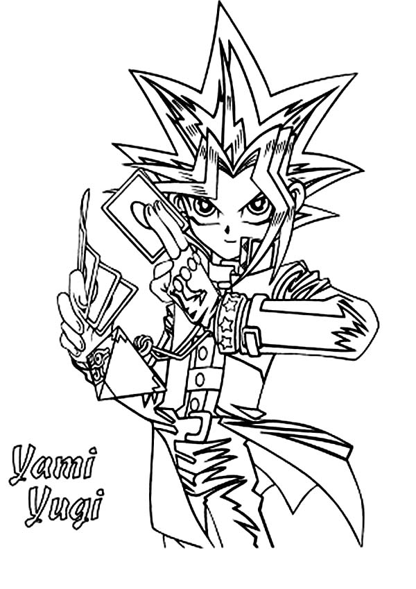 yami yugi from yu gi oh coloring page netart