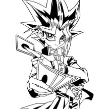 Yugi Muto Trump Card in Yu Gi Oh Coloring Page