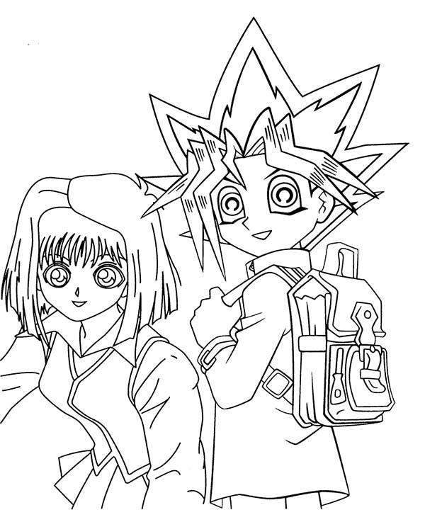 Yugi Muto and Tea Gardner from