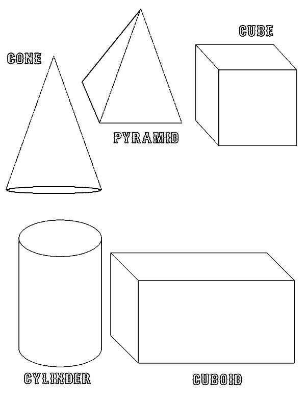 3d basic shapes coloring page netart. Black Bedroom Furniture Sets. Home Design Ideas
