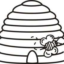 A Bee Going Outside from Beehive Coloring Page