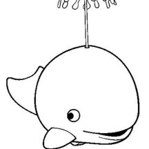 A Killer Whale Spouting Water Coloring Page