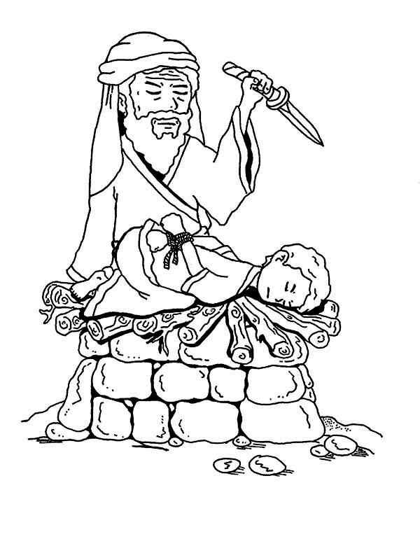 abraham and isaac sacrifice coloring pages | Abraham Scarifice Isaac for Gods Command - NetArt
