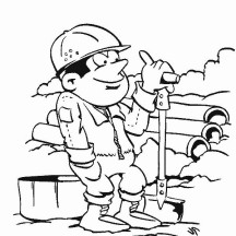 Activity in Community Helpers Coloring Page