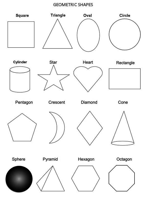 All Geometric Shapes Coloring Page Netart