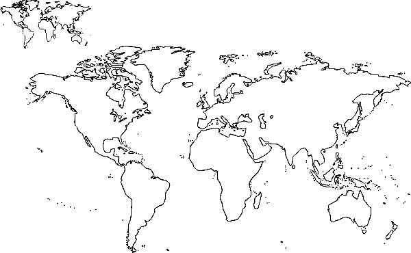 all nations world map coloring page