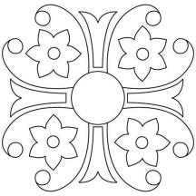 Alpana Rangoli Coloring Page
