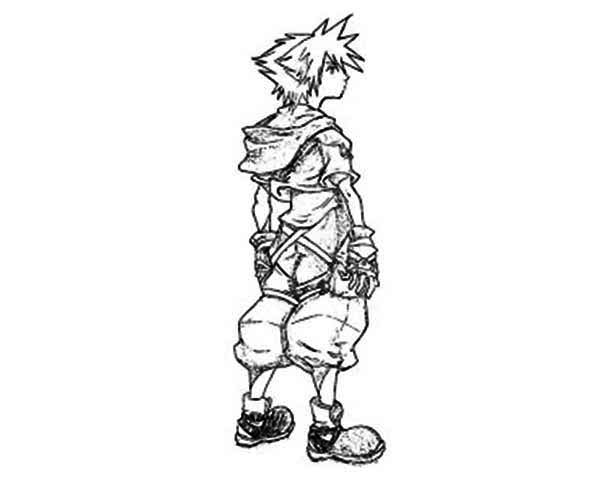 Amazing Character Sora Coloring Page