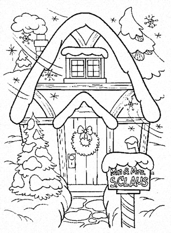 Amazing Gingerbread House Coloring Page