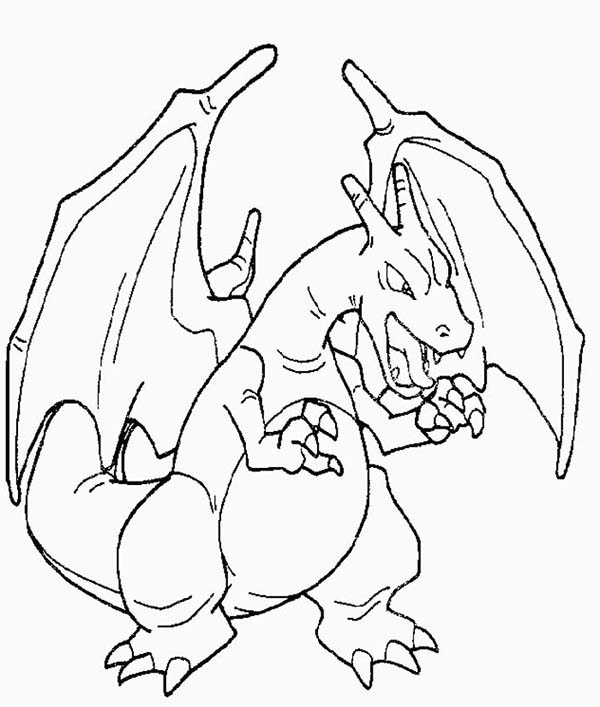 Amazing Picture of Charizard Coloring Page