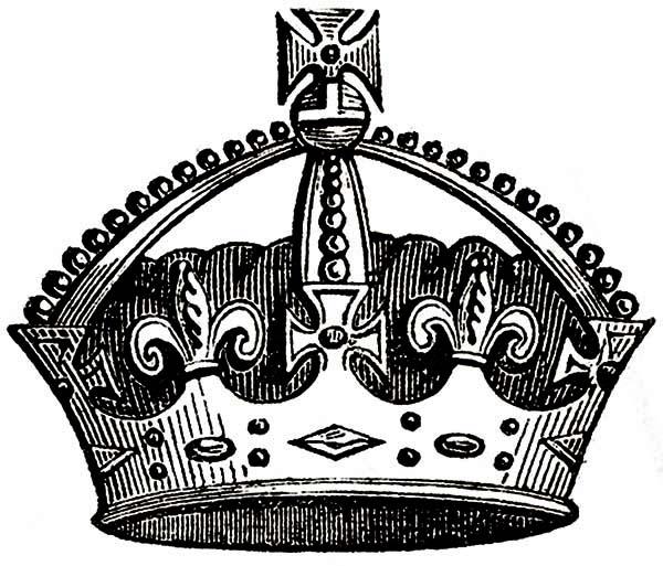 Amazing Princess Crown Coloring Page