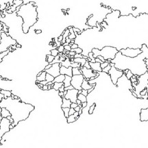Amazing World Map with Boundaries Coloring Page
