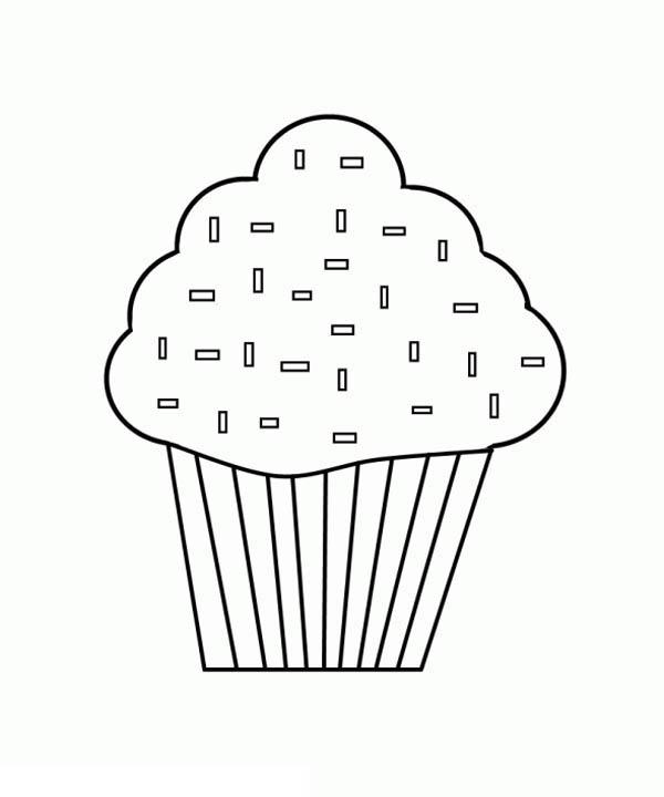 Amelia Simmons Cupcake Coloring Page