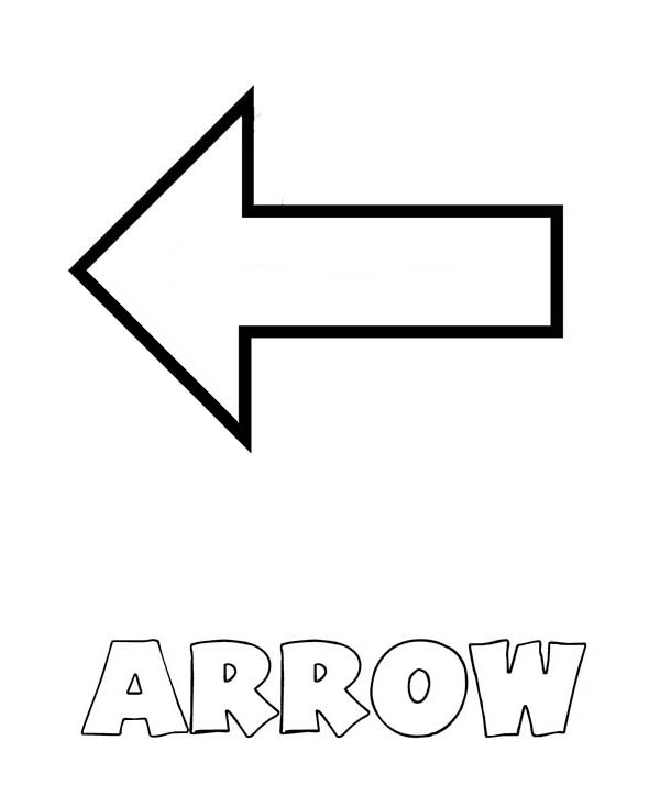 Arrow Shapes Coloring Page