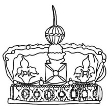 Awesome British Princess Crown Coloring Page