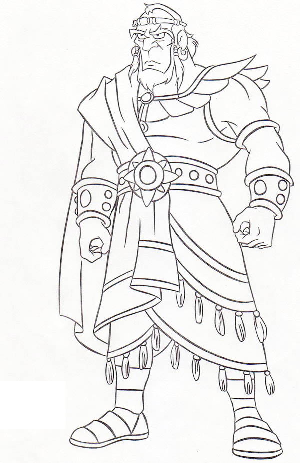 Awesome King Saul Coloring Page