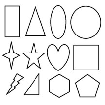 Basic 2D Geometric Shapes Coloring Page