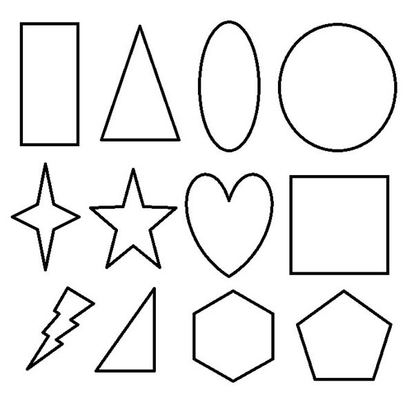 basic geometric shapes coloring pages - photo#18